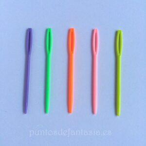 Agujas laneras de plástico 7cm