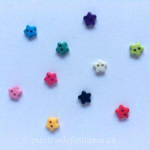 Mini botones de estrella 6mm