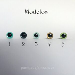 Ojos con Iris 6mm Modelo 2