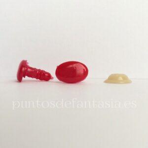 Narices-Ojos ovalados color rojo
