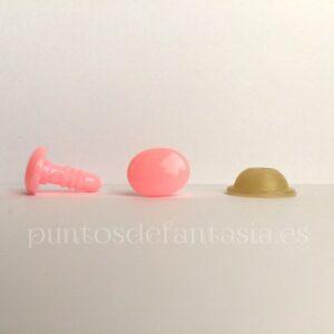 Narices-Ojos ovalados color rosa