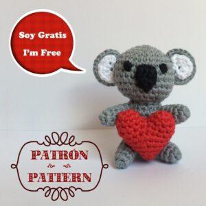 Patrón Koala Amoroso