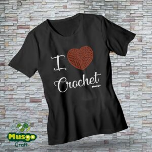 "Camiseta ""I love Crochet"""