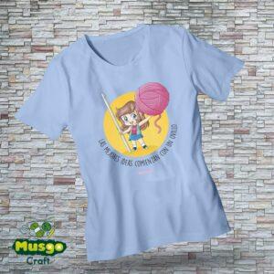 """Camiseta """"Las mejores ideas comienzan con un ovillo"""""""