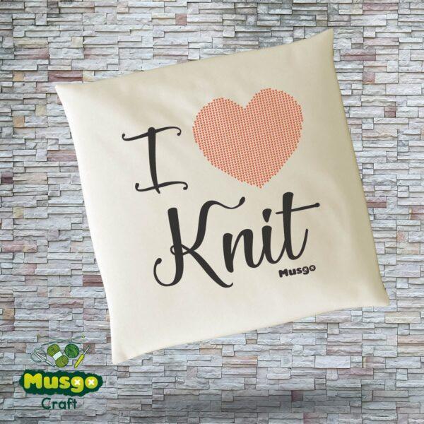 """Cojín """"I love Knit"""""""