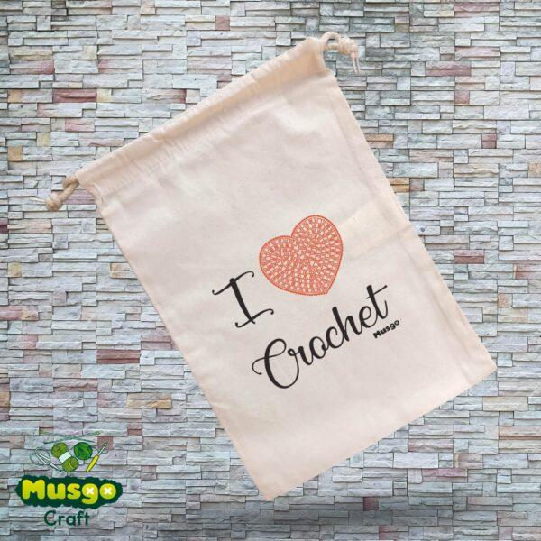 """Bolsa """"I love Crochet"""""""
