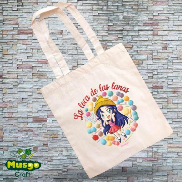 """Tote Bag """"La loca de las lanas"""""""