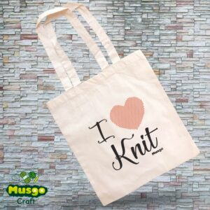 "Tote Bag ""I love Knit"""