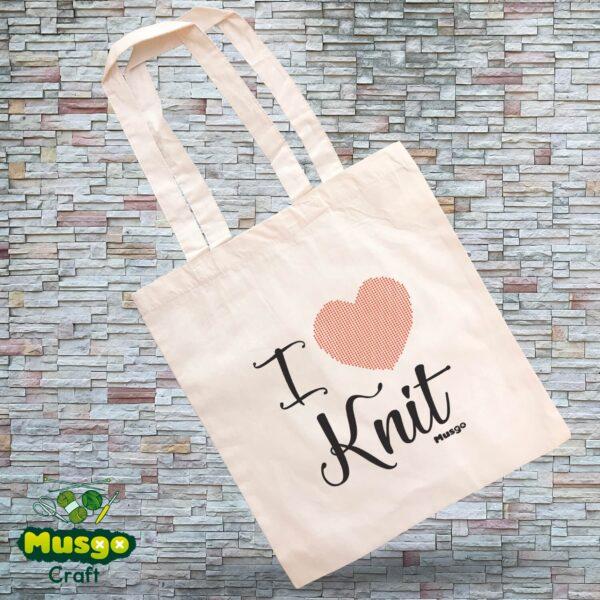 "Tote Bag ""I love Knit"""