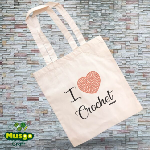 "Tote Bag ""I love Crochet"""