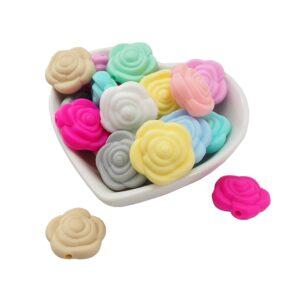 Flores de silicona 25mm