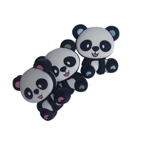 Mini Oso Panda de silicona 28mm