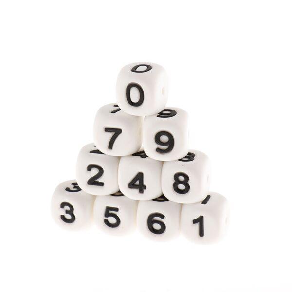 Cubos con números de silicona 12mm